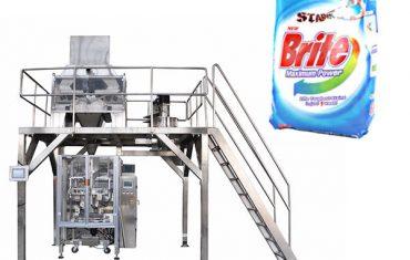 Máquina de envasado en polvo de deterxente de 4 pesos lineal