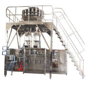 Máquina de envasado preformada horizontal con escalas multihead para gránulos