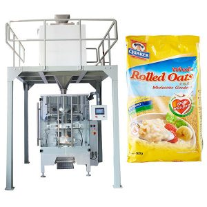 Pesadora lineal de máquina de envasado automático de harina de avea