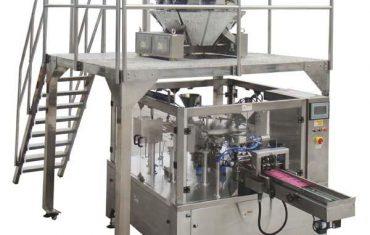 bolsa de cremallera automática rotativa, llenadora de sello para juntas de semillas