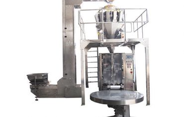 máquina de envasado vffs con pesador de varias cabezas