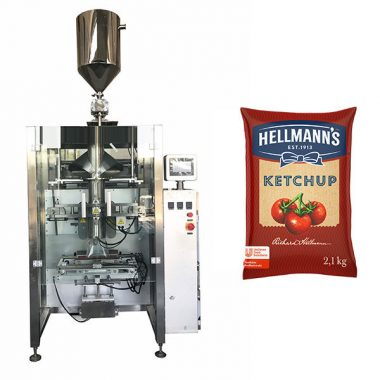 500g-2kg salsa de tomate salsa máquina de envasado